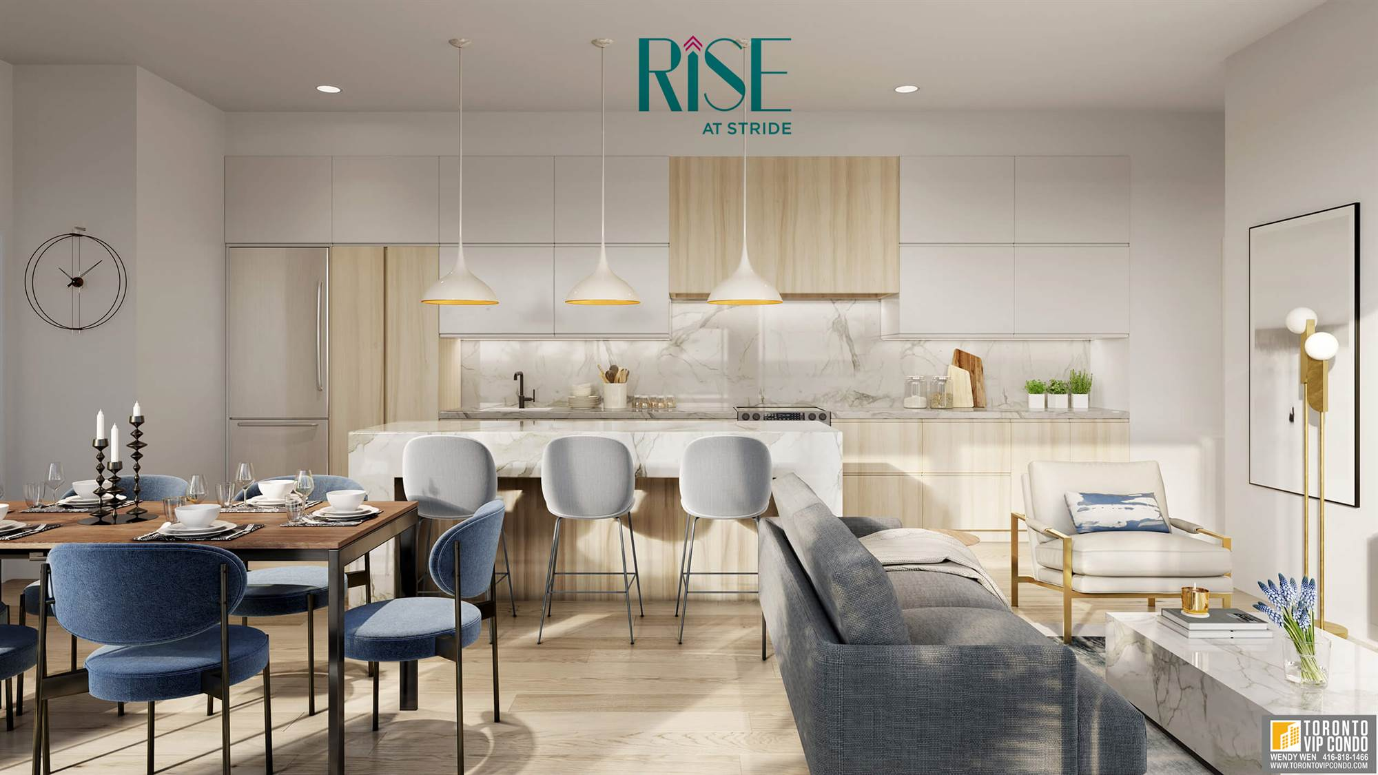 rise-at-stride_suite-living-dining-kitchen_rendering